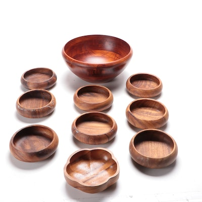 Teak Wood Salad Serving Bowl and Other Wood Bowls