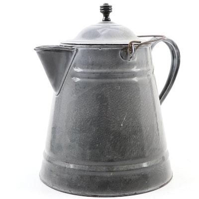 Lalance & Grosjean Mfg. Co. Agateware Coffee Pot, Early 20th C.