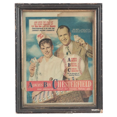 Chesterfield Jim Britt Baseball Radio Play-By-Play Tobacco Advertisement, 1940s