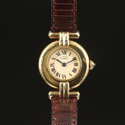 "Cartier Must de Cartier ""Rivoli"" Quartz Wristwatch"
