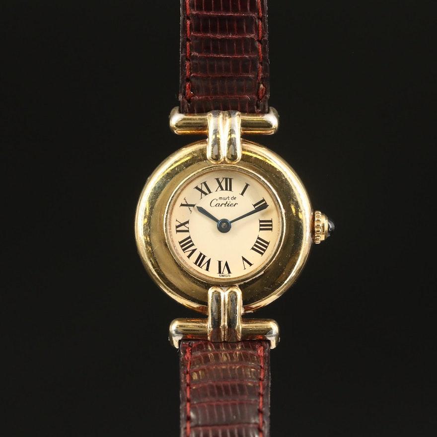 """Cartier Must de Cartier """"Rivoli"""" Quartz Wristwatch"""