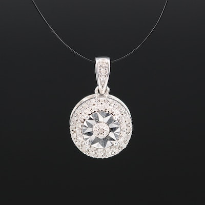 Sterling Diamond Pendant