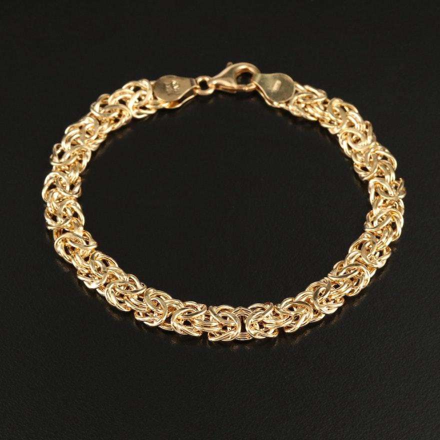 10K Byzantine Link Bracelet