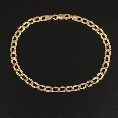 10K Curb Link Bracelet
