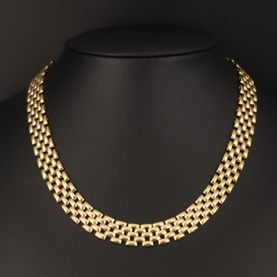14K Panther Link Necklace