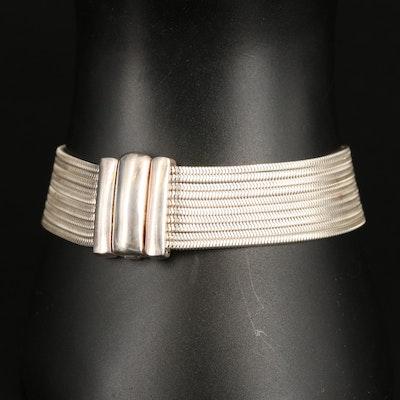 Italian Sterling Silver Multi-Strand Snake Chain Bracelet