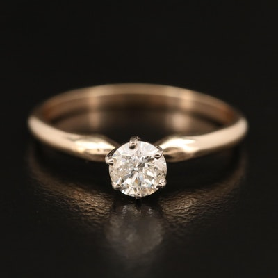 14K 0.41 CT Diamond Solitaire Ring