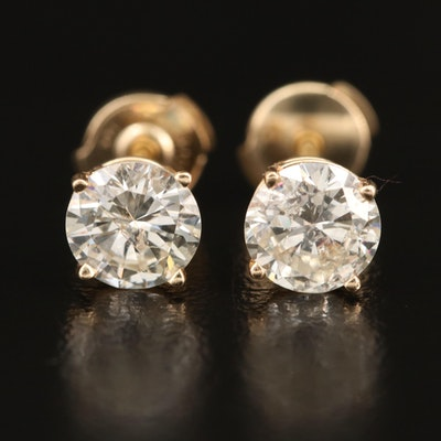14K 1.85 CTW Diamond Stud Earrings