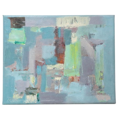 """Rebecca Manns Oil Painting """"Component of Drama,"""" 2021"""