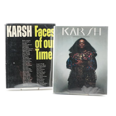 """Signed First Edition """"Faces of Our Time"""" and """"American Legends"""" by Yousuf Karsh"""