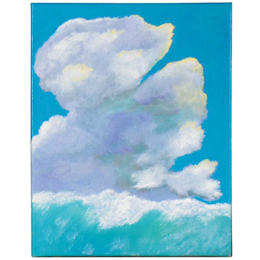 """Neville Shenton Oil Painting """"Crashing Wave,"""" 21st Century"""