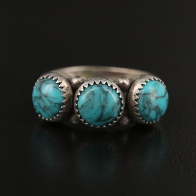 Southwestern Sterling Faux Turquoise Ring