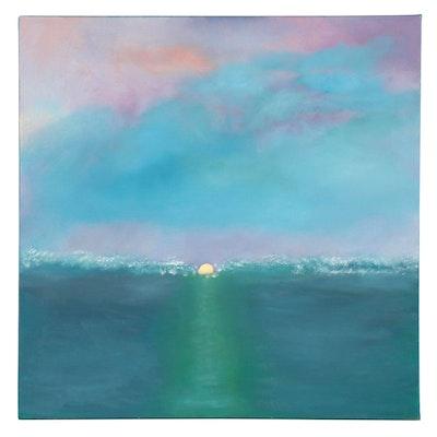 """Neville Shenton Oil Painting """"Falling Sun,"""" 21st Century"""