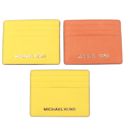 MICHAEL Michael Kors Jet Set Travel Saffiano Leather Card Cases