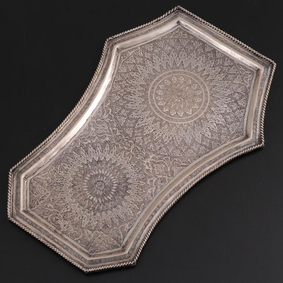 Silver Plate Persian Samovar Tray