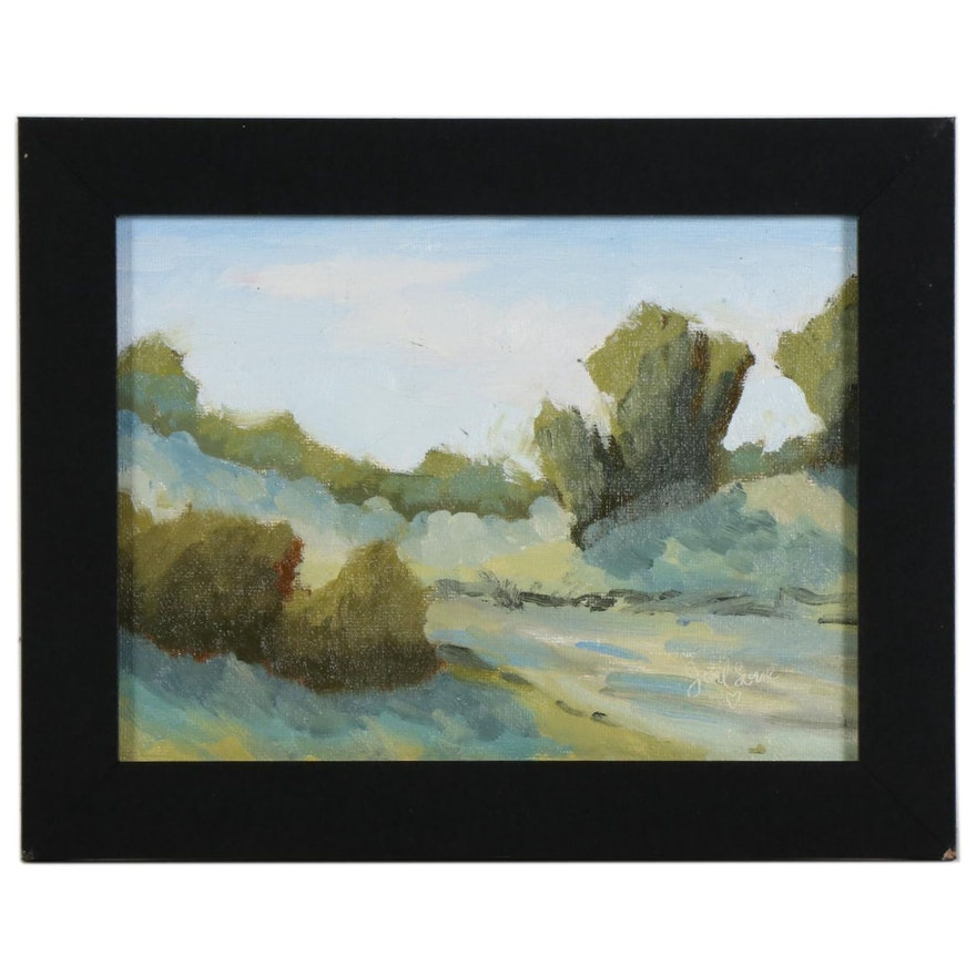 "Joel Love Oil Painting ""Shadows Are Growing,"" 2020"