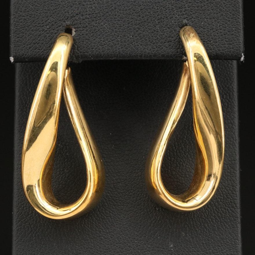 14K Electroform Freeform Dangle Earrings