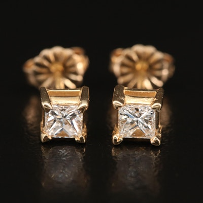 14K 0.53 CTW Diamond Stud Earrings