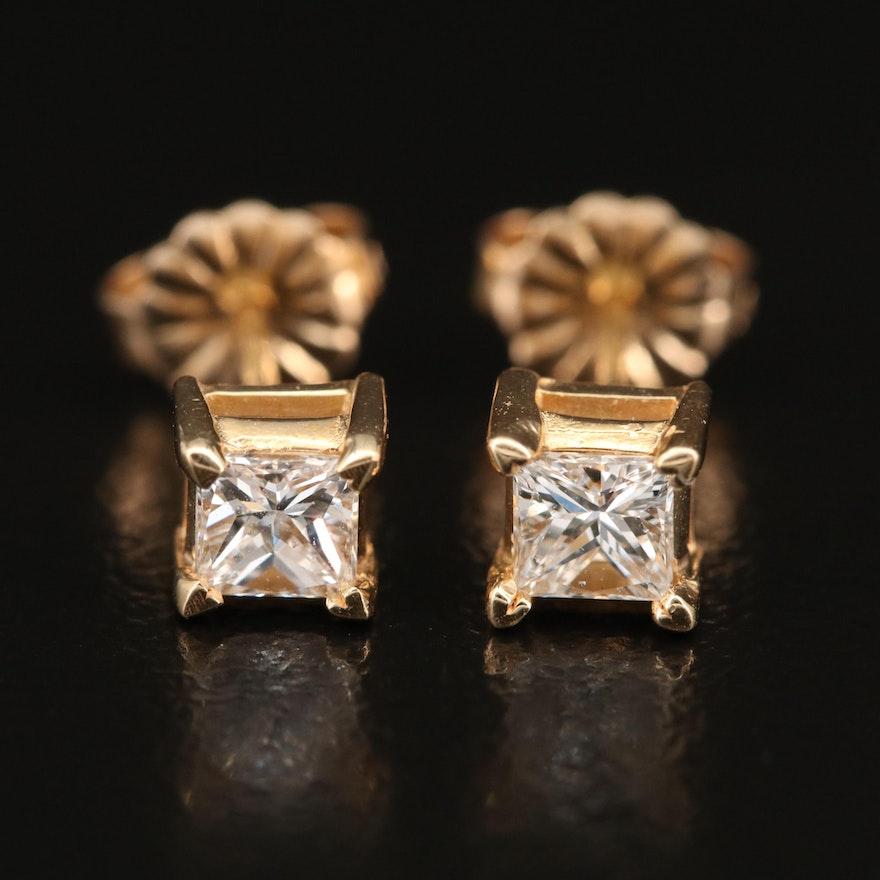 14K 0.53 CTW Diamond Stud Earrings
