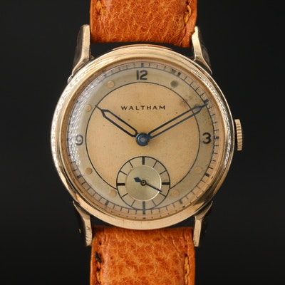 1944 Waltham Gold Filled Stem Wind Wristwatch