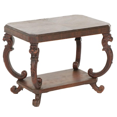 Mersman Tables Renaissance Revival Mahogany Veneered Tiered Side Table