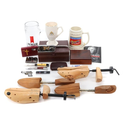 NRA Memorabilia, Wonder Bible, Folding Knives, Shoe Trees and More
