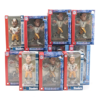 NFL Player Bobbleheads Including Ben Roethlisberger and Joey Porter