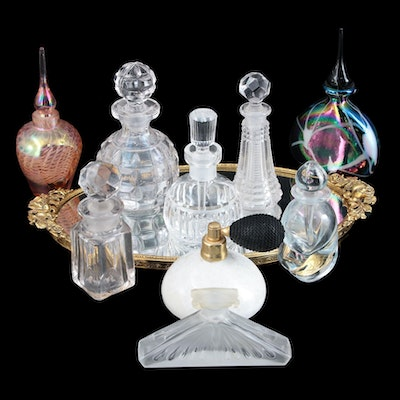 MMA Reproduction Brosse Winged Woman with Other Perfume Bottles and Atomizer