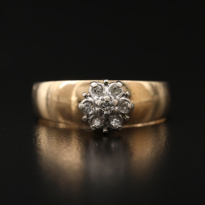 10K Dimond Cluster Ring