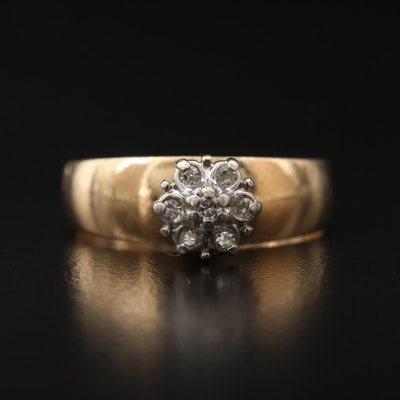10K Dimond Cluster Ring