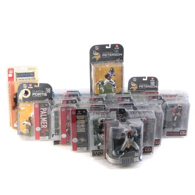 NFL Player Action Figures Including Carson Palmer and Peyton Manning