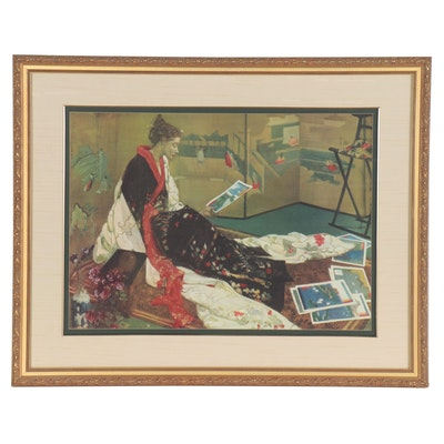 """Giclée after James Whistler """"Caprice in Purple and Gold: The Golden Screen"""""""