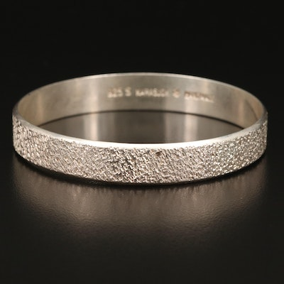 Norwegian Kirsti Gulsrud Karasjok Sterling Textured Bangle