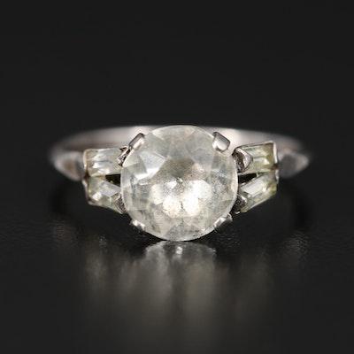 Vintage Sterling Rhinestone Ring