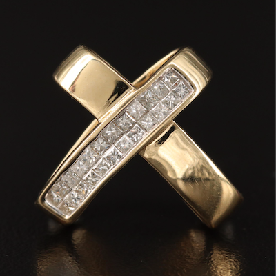 "14K Diamond ""X"" Slide Pendant"