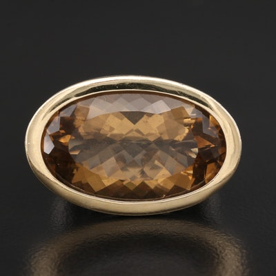 """John Hardy """"Padi"""" Sterling Silver Smoky Quartz Ring with 18K Accents"""