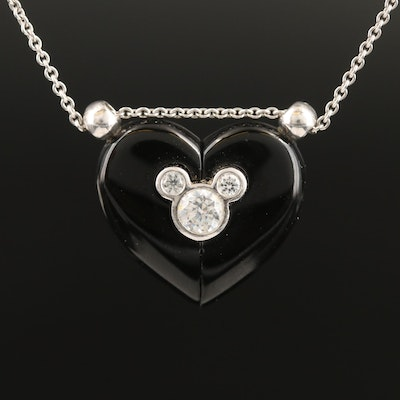 Petra Azar for Disney Sterling Silver Magnetic Heart Neckalce