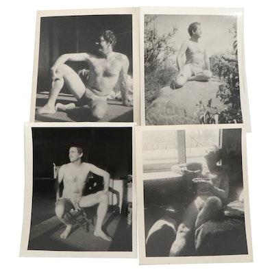 Edgar Hatten Nude Self-Portrait Silver Gelatin Prints
