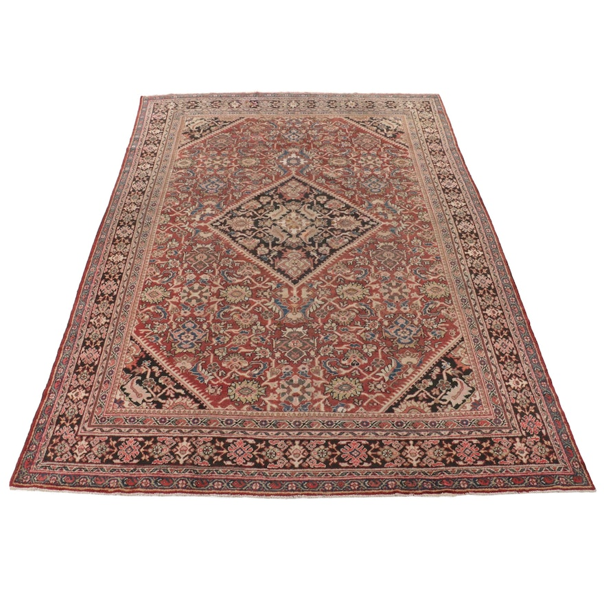10'8 x 14'4 Hand Knotted Persian Mahal Room Sized Rug