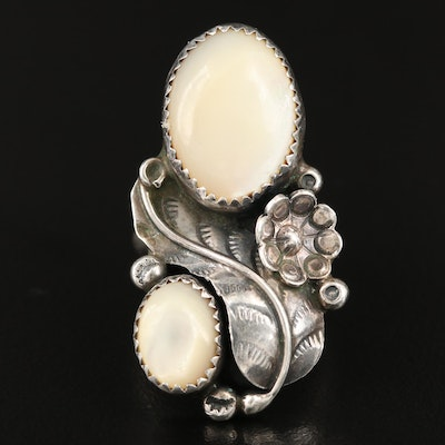 Southwestern Sterling Mother of Pearl Ring