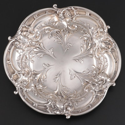 "Reed & Barton ""Les Six Fleurs"" Sterling Silver Bonbon Bowl, 1949"
