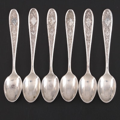 Persian Chased 800 Silver Demitasse Spoons