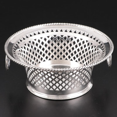 Atkin Brothers of Sheffield Sterling Silver Openwork Basket, 1904