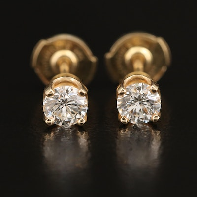 14K Diamond Stud Earrings