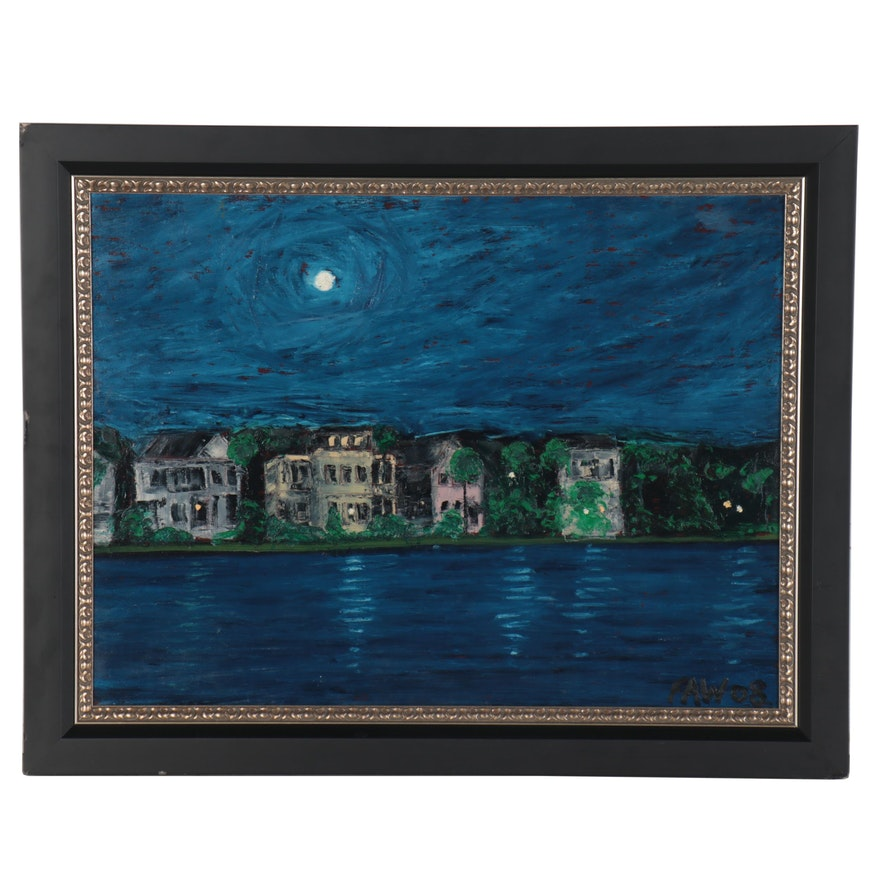 Night Landscape Oil Painting, 2008