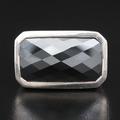 "John Hardy ""Bedeg"" Sterling Silver Hematite Ring"