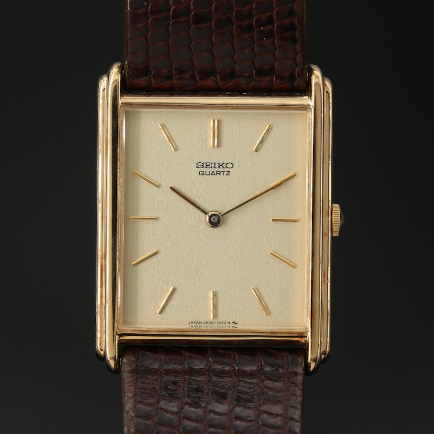 Vintage Seiko Gold Tone Dress Watch