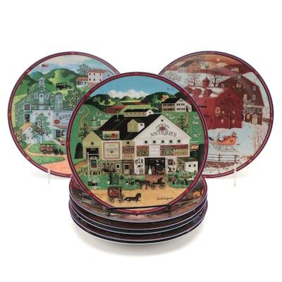 "Charles Wysocki's ""Peppercricket Grove"" for Bradford Exchange Porcelain Plates"