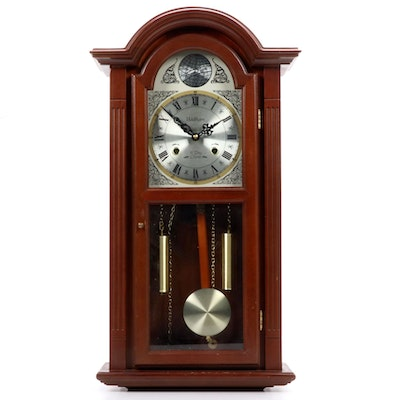 Waltham Cherry Case Tempus Fugit Wall Clock, Late 20th Century