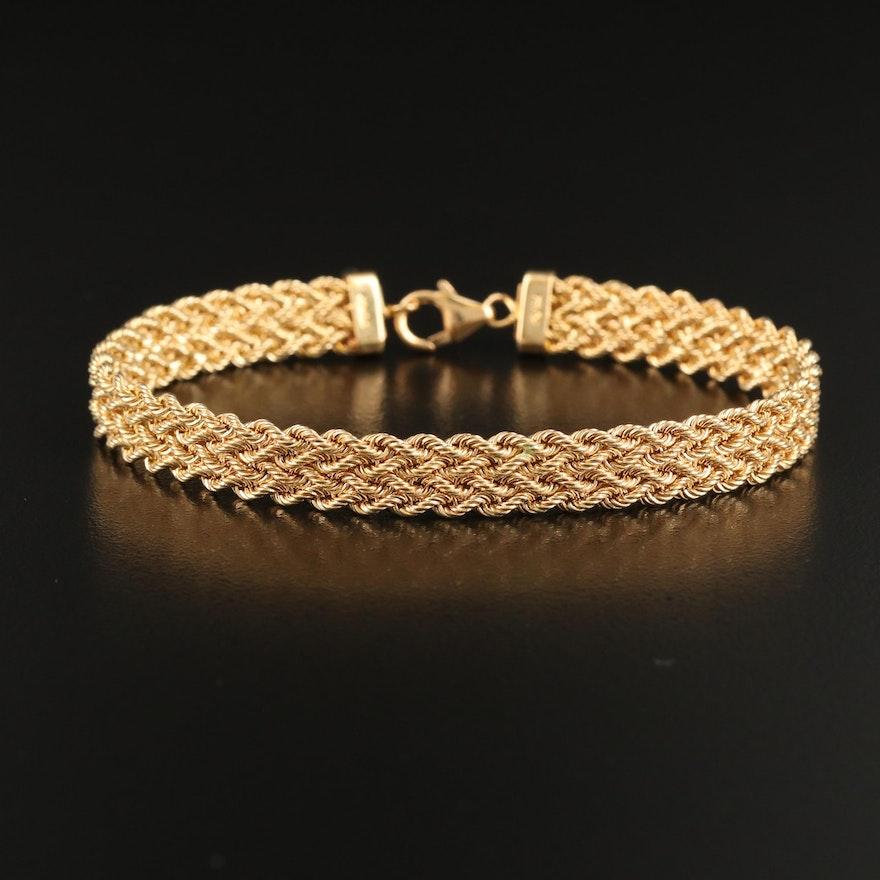 18K Woven Rope Chain Bracelet